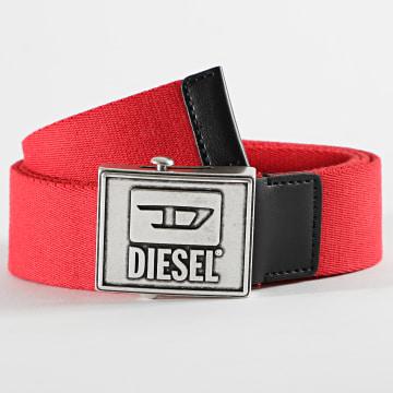 Diesel - Ceinture X07760-P1831 Rouge