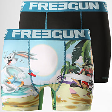 Freegun - Lot De 2 Boxers Looney Tunes Noir Multi