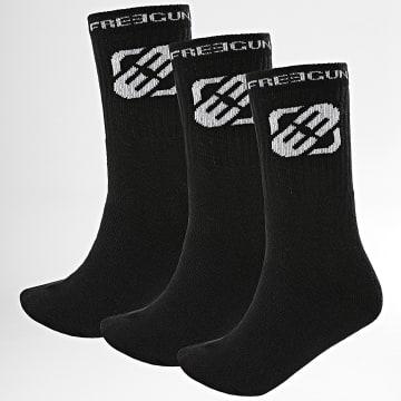Freegun - Lot De 3 Paires De Chaussettes H40065 Noir