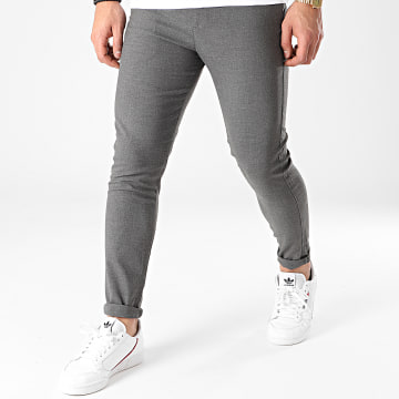 Aarhon - Pantalon Chino Slim A005 Gris Chiné