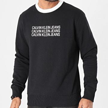 Calvin Klein - Sweat Crewneck Institutional Repetition 3740 Noir