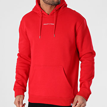 Project X - Sweat Capuche 2020074 Rouge
