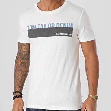 Tom Tailor - Tee Shirt 1016303-XX-12 Blanc