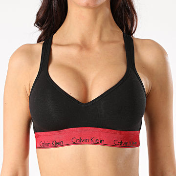 Calvin Klein - Brassière Femme Lift Bralette QF6129E Noir Rouge