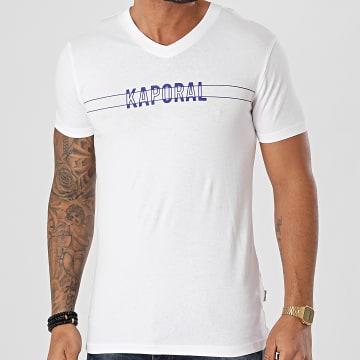 Kaporal - Tee Shirt Col V DINAM11 Blanc