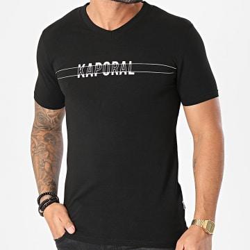 Kaporal - Tee Shirt Col V DINAM11 Noir
