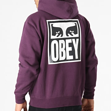 Obey - Sweat Capuche Eyes Icon 2 Violet
