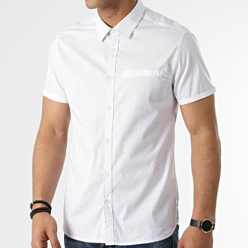 Teddy Smith - Chemise Manches Courtes Cut Stretch Blanc