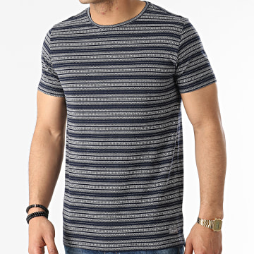 Teddy Smith - Tee Shirt Sidney Bleu Marine Blanc
