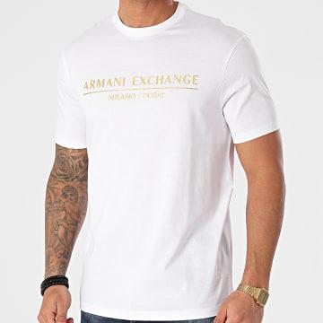 Armani Exchange - Tee Shirt 3KZTEB-ZJ9AZ Blanc Doré