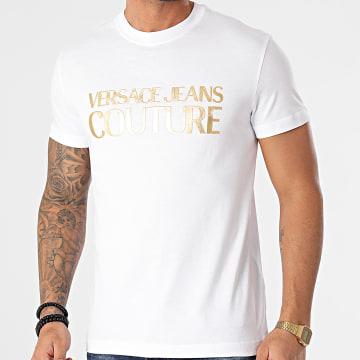 Versace Jeans Couture - Tee Shirt Logo Foil B3GWA7TB-30319 Blanc Doré