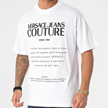 Versace Jeans Couture - Tee Shirt Oversize Garanzia B3GWA7TM-30319 Blanc