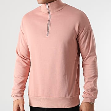 Frilivin - Sweat Col Zippé BM1145 Rose