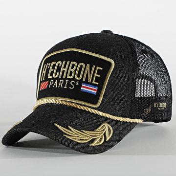 Hechbone - Casquette Trucker Logo Noir Gris Anthracite