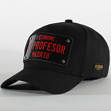 Hechbone - Casquette Plaque El Profesor Noir Rouge