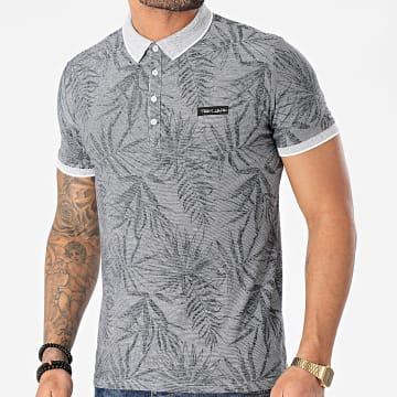Teddy Smith - Polo Manches Courtes Pasy 2 Gris Chiné Floral