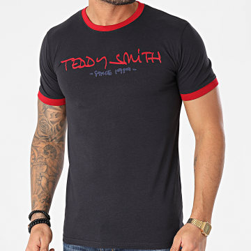 Teddy Smith - Tee Shirt Ringer Bleu Marine