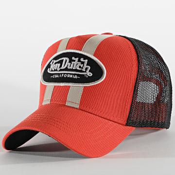 Von Dutch - Casquette Trucker Stripe Orange