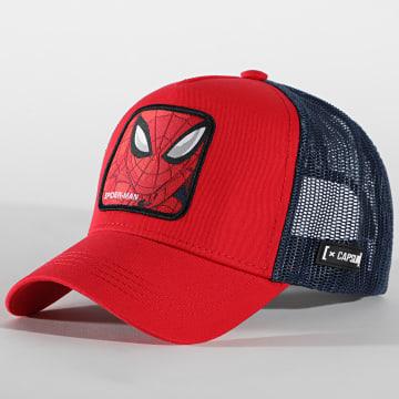 Capslab - Casquette Trucker Spider-Man Rouge Bleu Marine