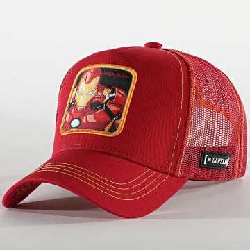 Capslab - Casquette Trucker Iron Man Rouge
