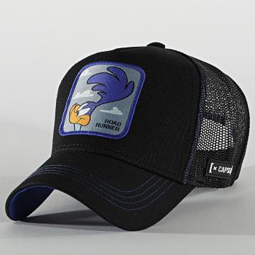 Capslab - Casquette Trucker Road Runner Bleu Noir