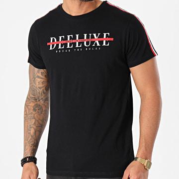 Deeluxe - Tee Shirt A Bandes Ralf Noir