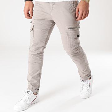 Deeluxe - Pantalon Cargo Slim Danakil Gris