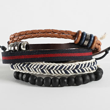 Deeluxe - Bracelet Multi-rangs Apache Noir Rouge