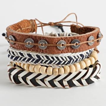 Deeluxe - Bracelet Multi-rangs Apache Beige