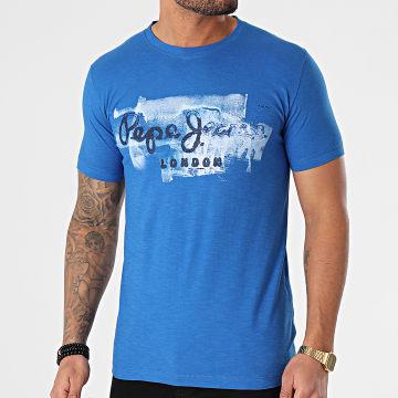 Pepe Jeans - Tee Shirt Golders PM503213 Bleu Roi