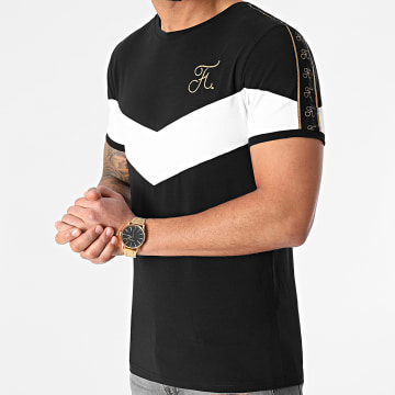 Final Club - Tee Shirt Retro Bicolore Gold Edition 482 Noir Blanc