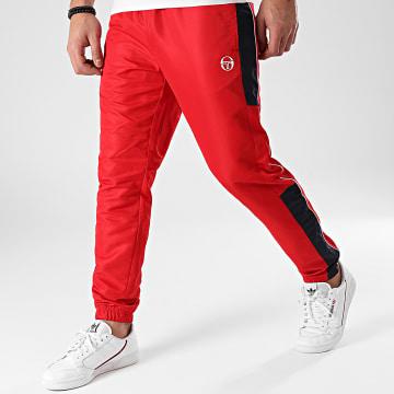 Sergio Tacchini - Pantalon Jogging A Bandes Abita 39145 Rouge Bleu Marine
