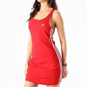 Adidas Originals - Robe Débardeur Femme A Bandes Racer GN2879 Rouge