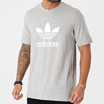 Adidas Originals - Tee Shirt Trefoil GN3465 Gris Chiné