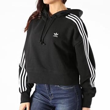 Adidas Originals - Sweat Capuche Femme A Bandes Short GN2890 Noir