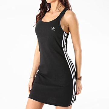 Adidas Originals - Robe Débardeur Femme A Bandes Racer GN2878 Noir