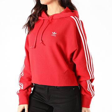 Adidas Originals - Sweat Capuche Femme A Bandes Short GN2892 Noir