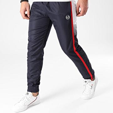 Sergio Tacchini - Pantalon Jogging A Bandes Alabama 39020 Bleu Marine Blanc