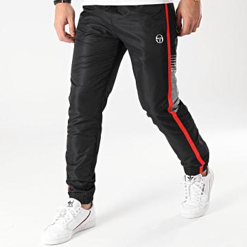 Sergio Tacchini - Pantalon Jogging A Bandes Alabama 39020 Noir Gris
