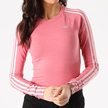 Adidas Originals - Tee Shirt Femme Manches Longues A Bandes GN4380 Rose