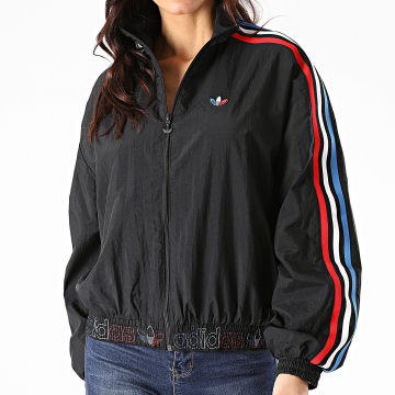 Adidas Originals - Veste Zippée Femme A Bandes Japona GT8464 Noir