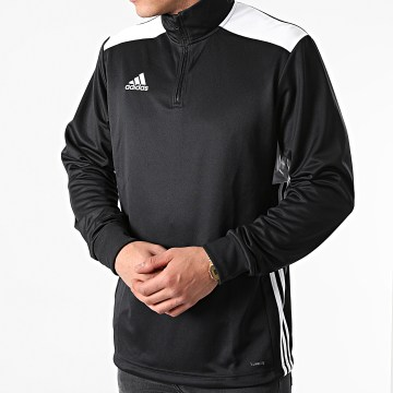 Adidas Performance - Sweat Col Zippé A Bandes Regi 18 CZ8647 Noir