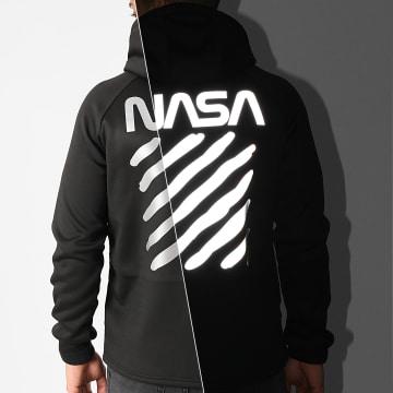 NASA - Veste Zippée Capuche Skid Réfléchissant Noir