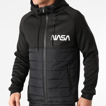 NASA - Veste Zippée Capuche Worm Noir