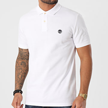 Timberland - Polo Manches Courtes Regular Blanc