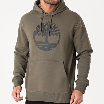Timberland - Sweat Capuche Logo Vert Kaki