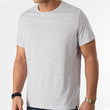 Blend - Tee Shirt A Rayures 20711677 Blanc