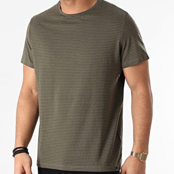 Blend - Tee Shirt A Rayures 20711677 Vert Kaki