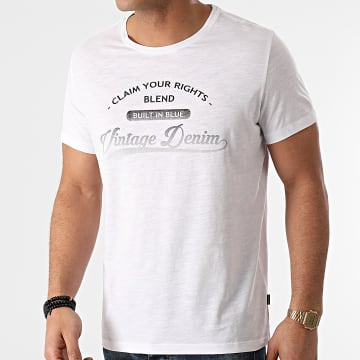 Blend - Tee Shirt 20711680 Blanc