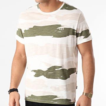 Blend - Tee Shirt 20711684 Ecru Beige Vert Kaki